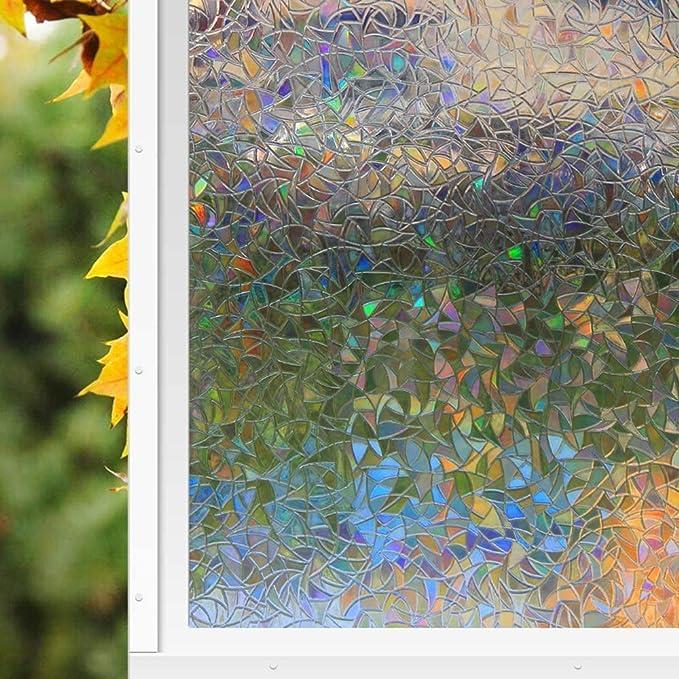 Zindoo Vinilos para Cristales Vinilo de Ventana Pegatina Ventana Vinilos Decorativos Cristales para El Cristal De Ventanal De Baño Cocina Oficina Control De Calor y Anti UV (44.5 * 200cm): Amazon.es: Hogar
