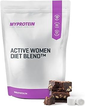 MyProtein Active Woman Diet Blend Batido de Proteínas, Sabor Fresas con Nata - 500 gr