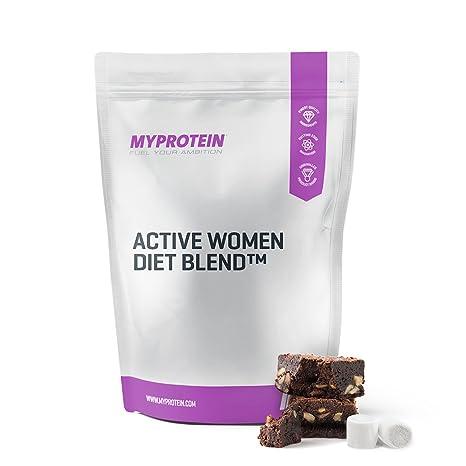 MyProtein Active Woman Diet Blend Batido de Proteínas, Sabor Fresas con Nata - 1000 gr