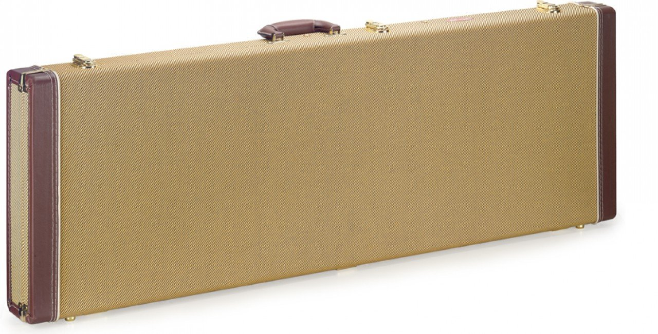 Stagg GCX-REGD Gold Tweed Deluxe Rectangle Electric Guitar Case GCX-RE GD