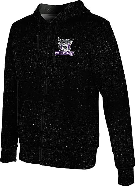 School Spirit Sweatshirt Heathered Weber State University Girls Zipper Hoodie