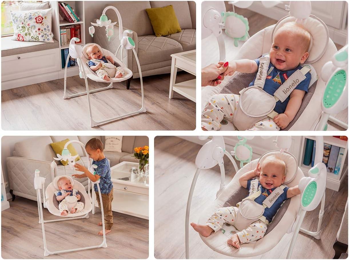 Lionelo color gris Silla mecedora para beb/é Robin 5902581651938