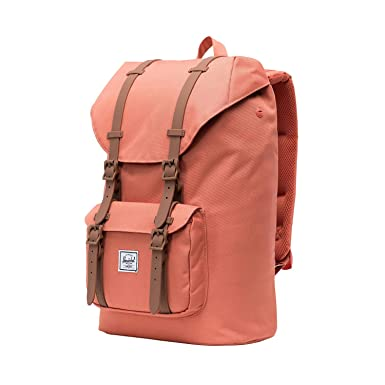4d9fa30ce Herschel Little America Mid-Volume Backpack, Apricot Brandy/Saddle Brown,  One Size