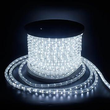 LED Lichterschlauch 9m Beleuchtung Lichterkette Innen Außen IP44 Schlauch Ø 13mm
