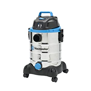 Vacmaster, VQ607SFD, 6 Gallon 3 Peak HP Stainless Steel Wet/Dry Shop Vacuum