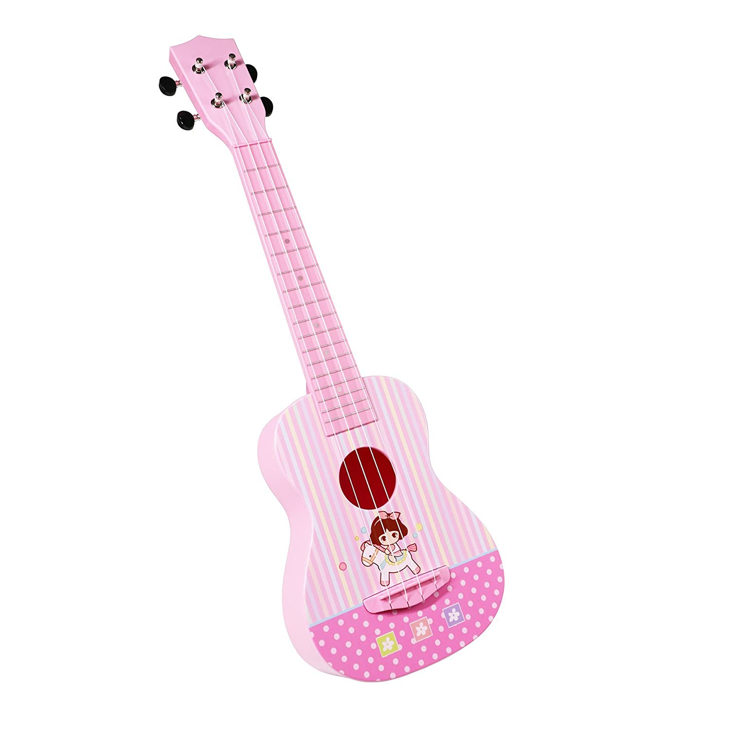 aPerfectLife Ukulele Guitar for Kids, 23 Inch Nylon-String Starter Classical Guitar for Beginner Children (Wooden) AG-0144