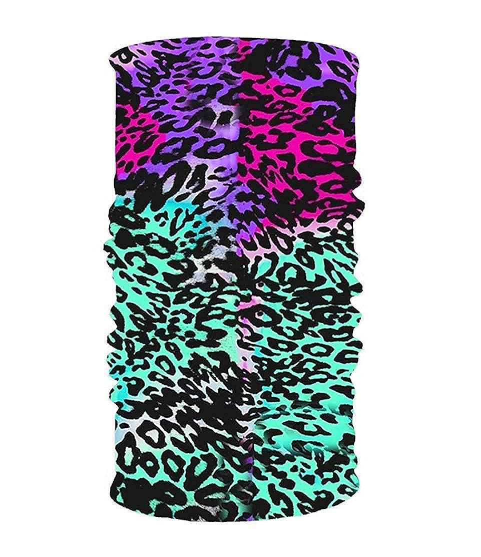 KAKICSA Leopard Spots 16-in-1 Magic Scarf,Face Mask,Thin Ski Mask,Balaclava Bandana