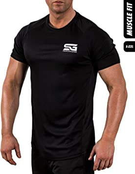 Satire Gym Camiseta Deportiva Hombre - Fitness Ropa Deportiva Transpirable - Adecuada para Workout, Entrenamiento - Muscle Fit: Amazon.es: Deportes y aire libre