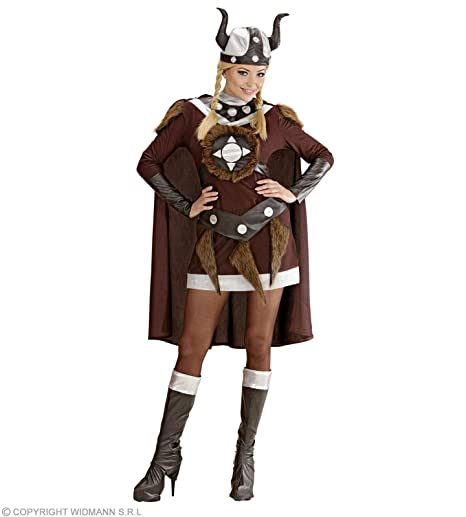 6a696132a5255 WIDMANN Desconocido Disfraz de vikinga para mujer  Amazon.es ...