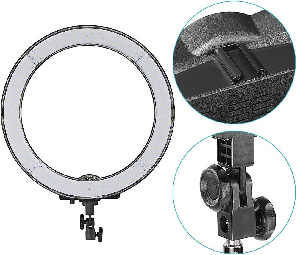 Neewer Upgraded 18-inch Outer Dimmable SMD LED Ring Light with 79-inch Stand US Plug, Bag Included Rotatable Phone Holder for Smartphone//Camera Make up YouTube Video Shooting