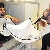 HOMPO Bart Schürze Sammeltuch für Haare und Bart Beard Apron Haarfänger Bartschürze, weiß