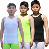 Youth Boys Girls Compression Tank Tops Athletic Sleeveless Shirt Undershirts Workout Base Layer Vest