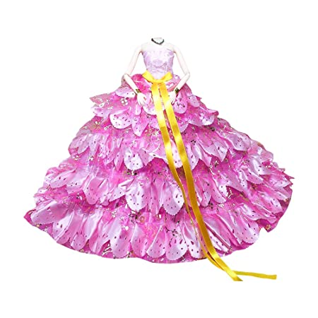 Vestidos de Princesa para muñeca Barbie cumpleaños regalo de ...