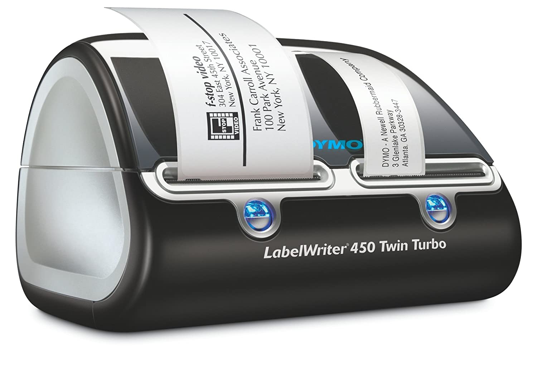 DYMO LabelWriter 450 Twin Turbo - Impresora de etiquetas (Térmica directa, 600 x 300 DPI, 71 Ipm, 56 mm, Negro, Plata, QWERTZ): Amazon.es: Oficina y ...