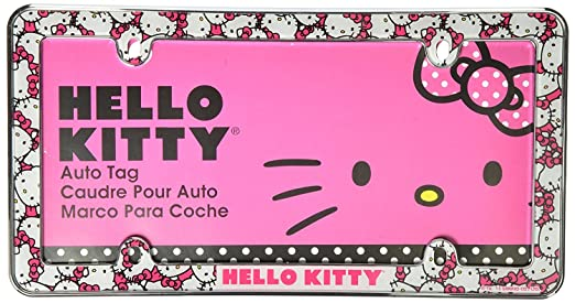 Amazon.com: Infinity Stock Hello Kitty Plastic License Plate Frame - Universal Fit 6.25