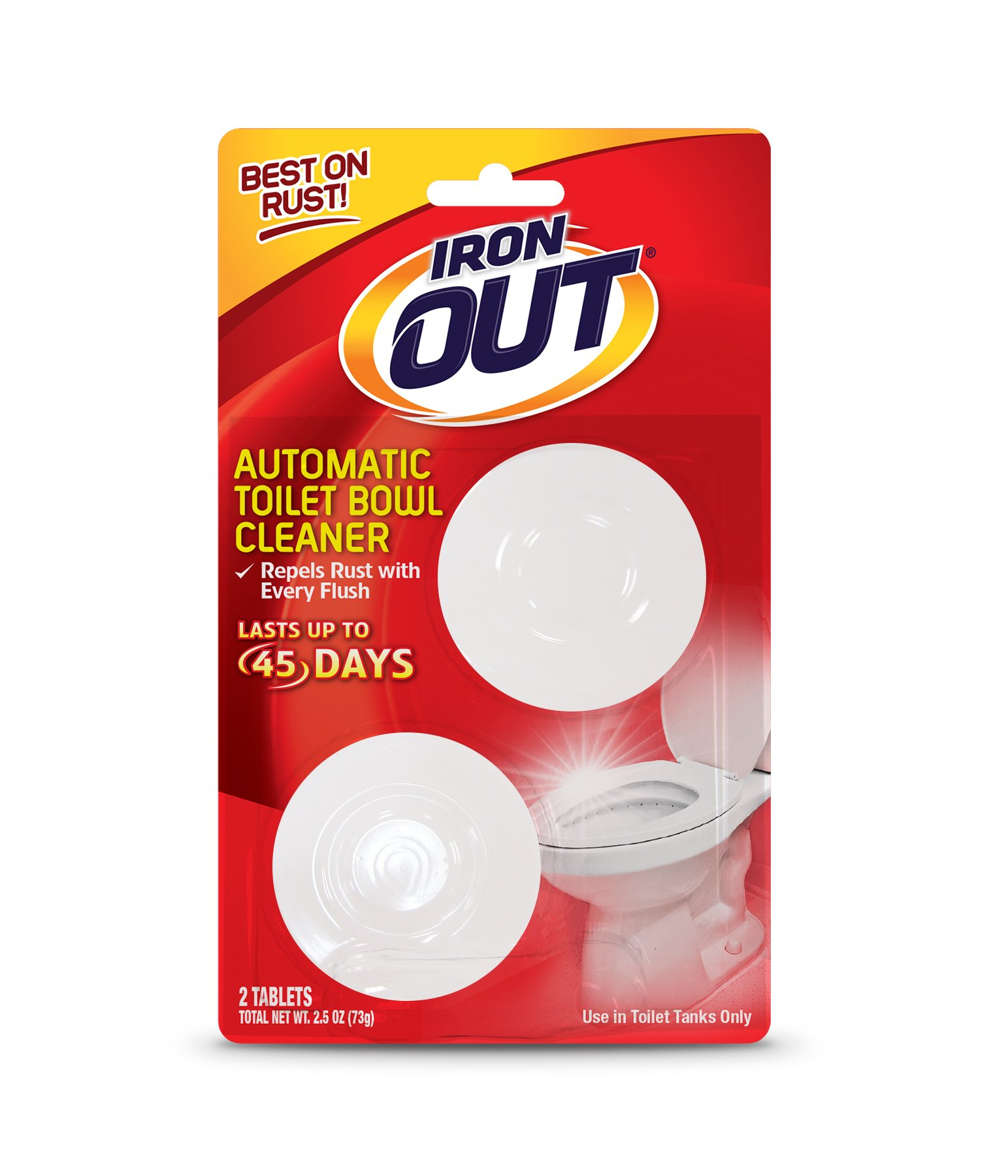 Iron OUT Automatic Toilet Bowl Cleaner, 6 pack, 24 Tablets by Summit Brands