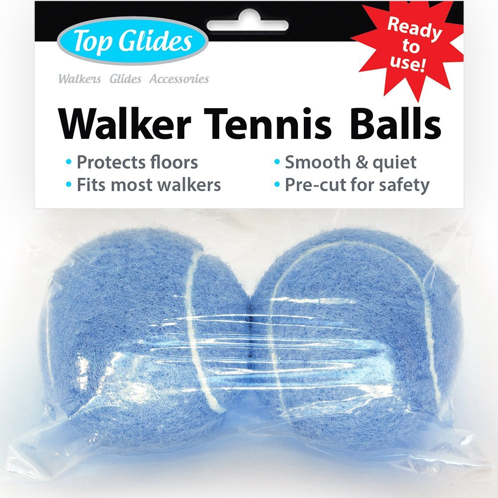 Pre-Cut Walker Glide Balls - 15 Colors & Styles (Light Blue) 71lakYoPl1L