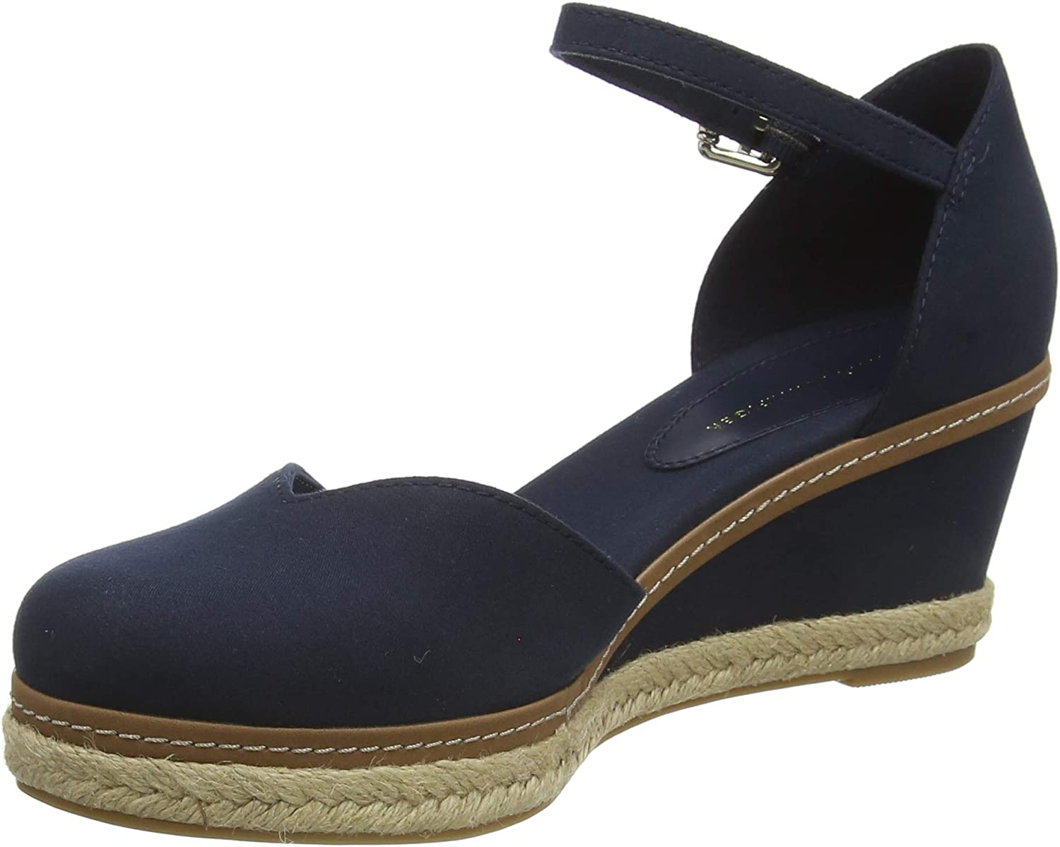 Tommy Hilfiger Basic Closed Toe Mid Wedge, Sandalias con Punta Abierta para Mujer