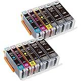 LxTek Compatible Ink Cartridges 550XL 551XL PGI-550XL CLI-551XL High Yield (4 PGI-Black, 2 CLI-Black, 2 Cyan, 2 Magenta, 2 Yellow) for PIXMA MX725 MX920 MX925 IX6850 IP7200 IP7250 MG5400 MG5450 MG5550 MG5650 MG6450 MG6650 MG7500 Printer