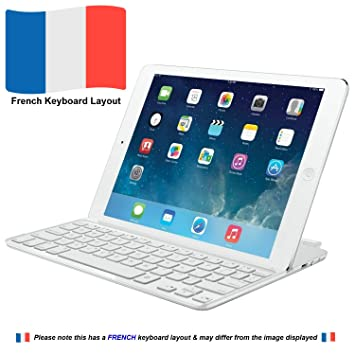 Logitech Ultrathin Keyboard mini teclado para móvil Blanco AZERTY Francés Bluetooth - Teclados para móviles (