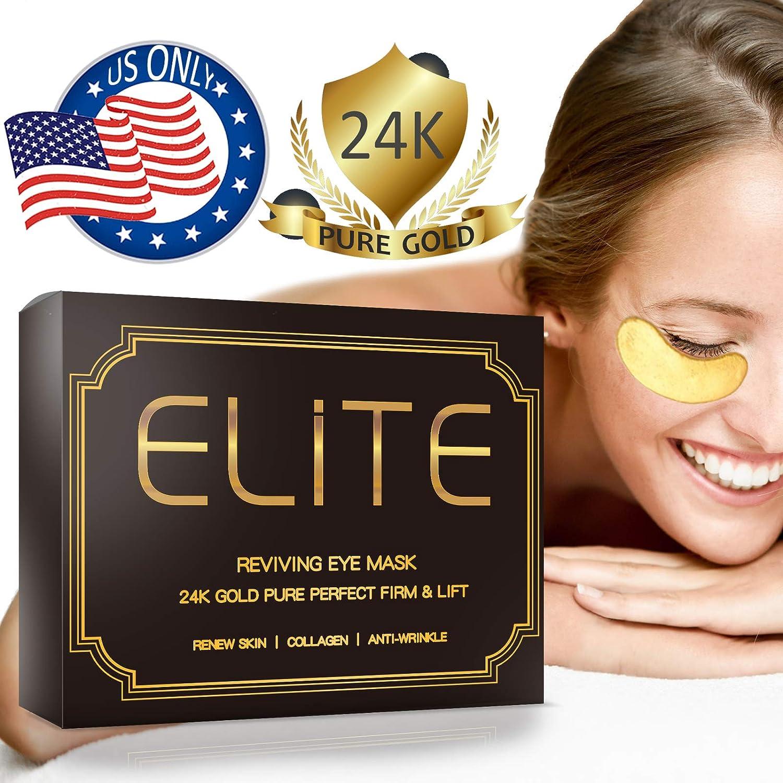 Under Eye Mask for Dark Circles - 24K Gold Eye Collagen Patches | 30 Pairs Elite