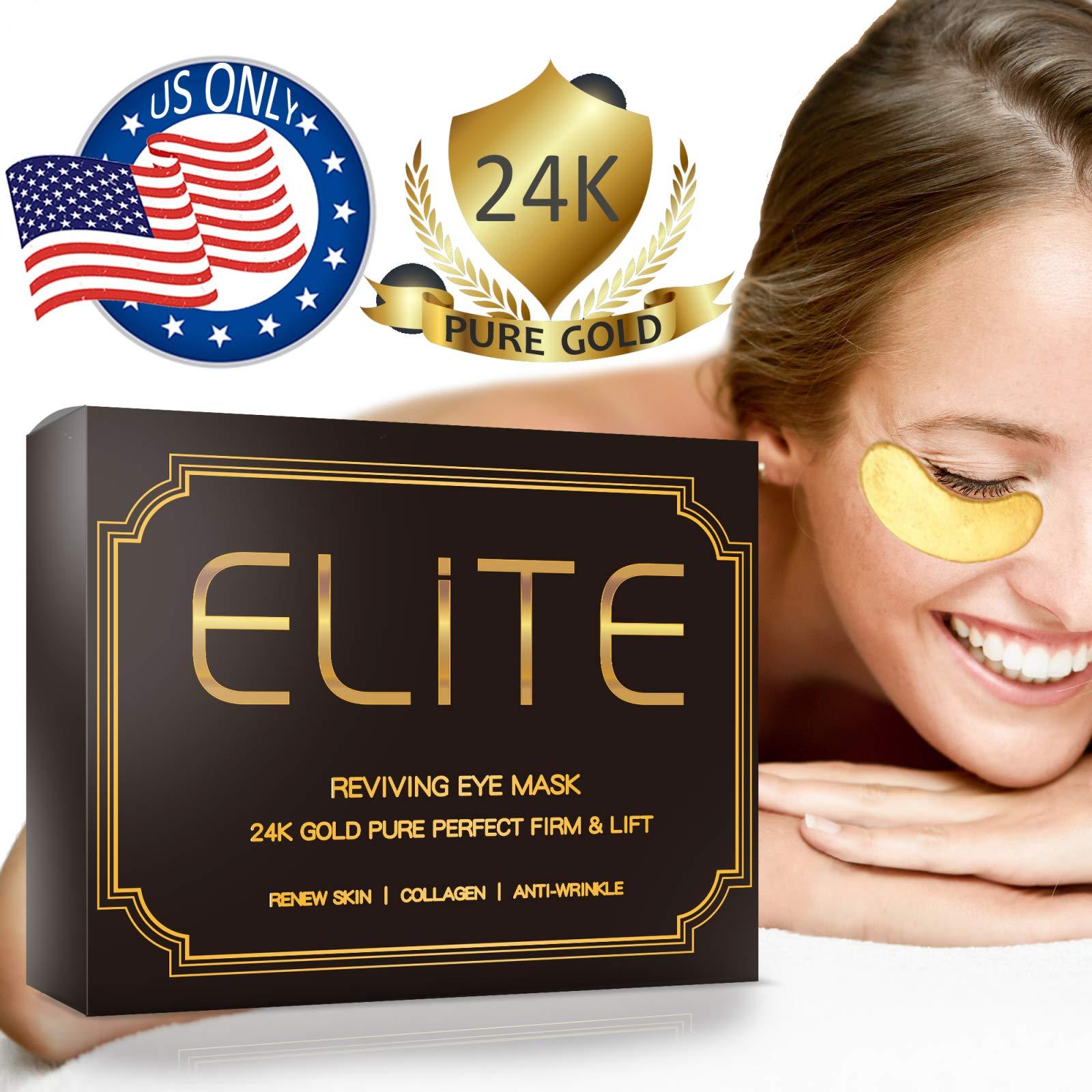Under Eye Patches for Dark Circles - 24K Gold Eye Collagen Mask   15 Pairs