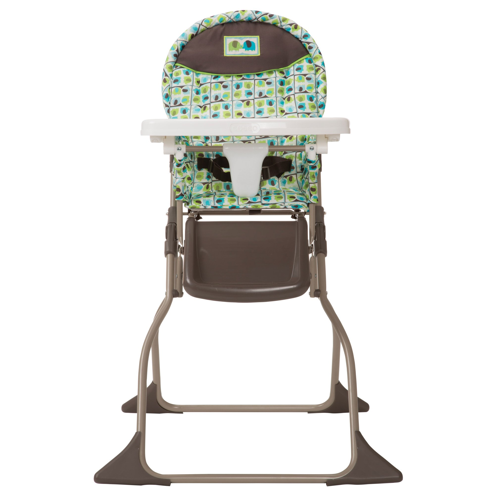Cosco Simple Fold High Chair with 3-Position Tray (Elephant Squares) by Cosco