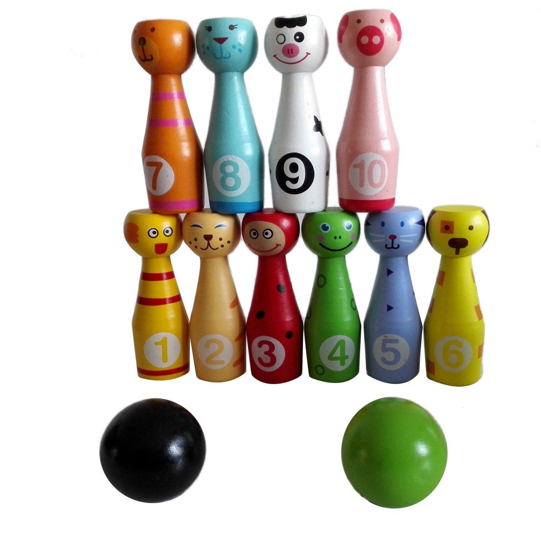 3 In 1 Holz Bowling Angeln Ringwurfspiel Pädagogisches Spielzeug Für