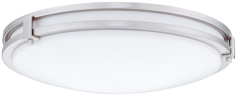 Lithonia Lighting FMSATL 16 20840 BN M4 LED Saturn Flushmount Ceiling Light Fixture for Kitchen | Hallway | Bedroom, Dimmable, 4000K, Antique Brushed Nickel