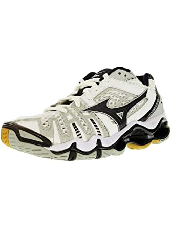 3584de92b5 Amazon.com: Mizuno Women's Wave Tornado 8 White/Black Low Top Leather  Indoor Court Shoe - 6M: Mizuno: Watches