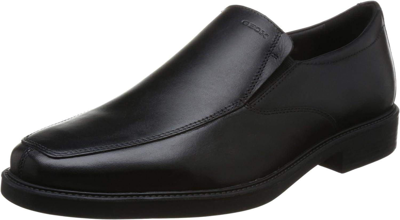 Geox U824VB Brandolf Eleganter Herren Business Schuh aus Leder, Anzugschuh, Schnürhalbschuh, Derbyschnürung, Gummisohle, atmungsaktiv U2Kwt