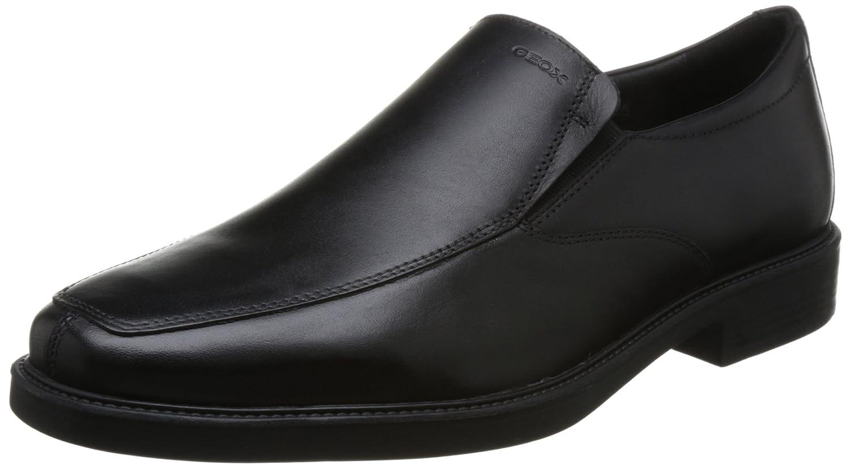 TALLA 39 EU. Zapatillas de Cuero Genuino GEOX Zapatillas Bajas Negro