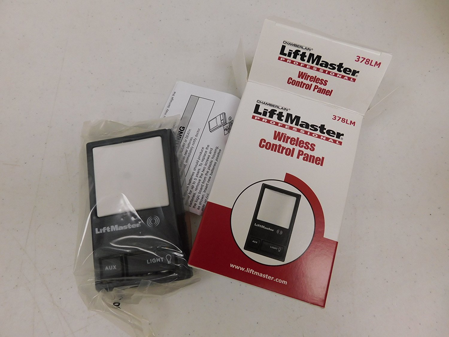 Liftmaster 378LM 315MHz Wireless Secondary Control Panel - Garage Door  Remote Controls - Amazon.com