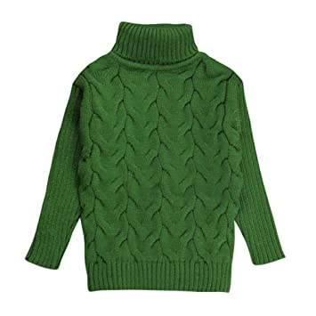 18fe96c2a721 Amazon.com  Baby Boys Girls Turtleneck Kids Sweaters Soft Winter ...