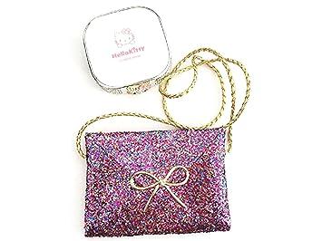 Lovely Little Girl Kids Children Messenger Bag Bling Shoulder Handbag Color