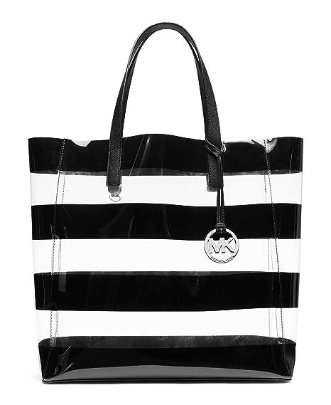 3a2394852433 Michael Kors Striped Clear Jelly Eliza Medium Tote Bag Purse: Amazon.ca:  Sports & Outdoors