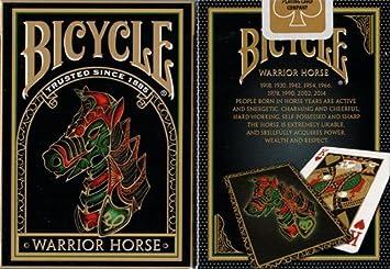 Amazon.com: 2 Decks Warrior caballo Bicycle Playing Cards ...