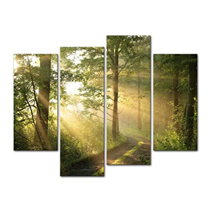 Amazon.com: 4 Pieces Modern Canvas Painting Wall Art The Picture For ...