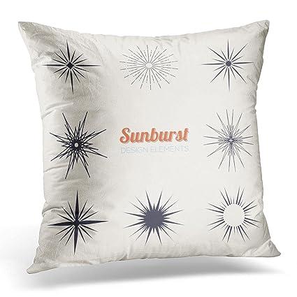 Amazon Duplins Starburst Vintage Sunburst Design Collection Enchanting Starburst Decorative Pillow