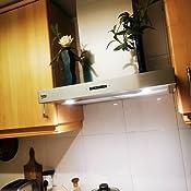 Beko HCB61731BX Campana Decorativa T invertida de 60 cm, 28 W, 3 Velocidades, Acero inoxidable: 120.2: Amazon.es: Grandes electrodomésticos
