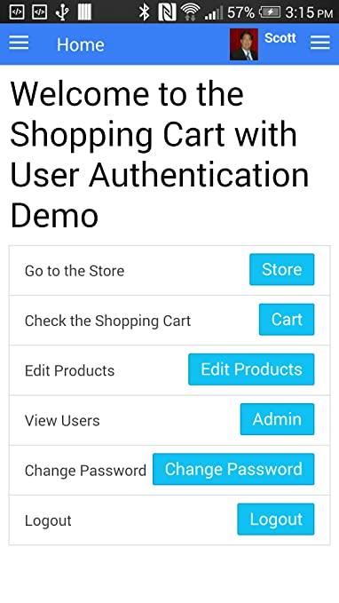 Amazon com: Shopping Cart with User Authorization Demo using