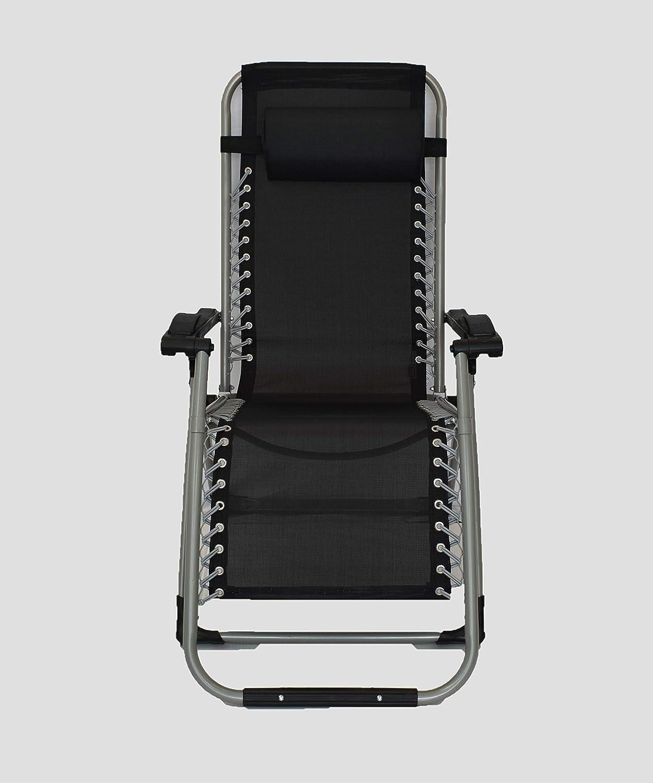 Tumbona Plegable Multiposiciones para jard/ín 1 Unidad Camping Pincho Sill/ón Relax Gravedad Zero terraza