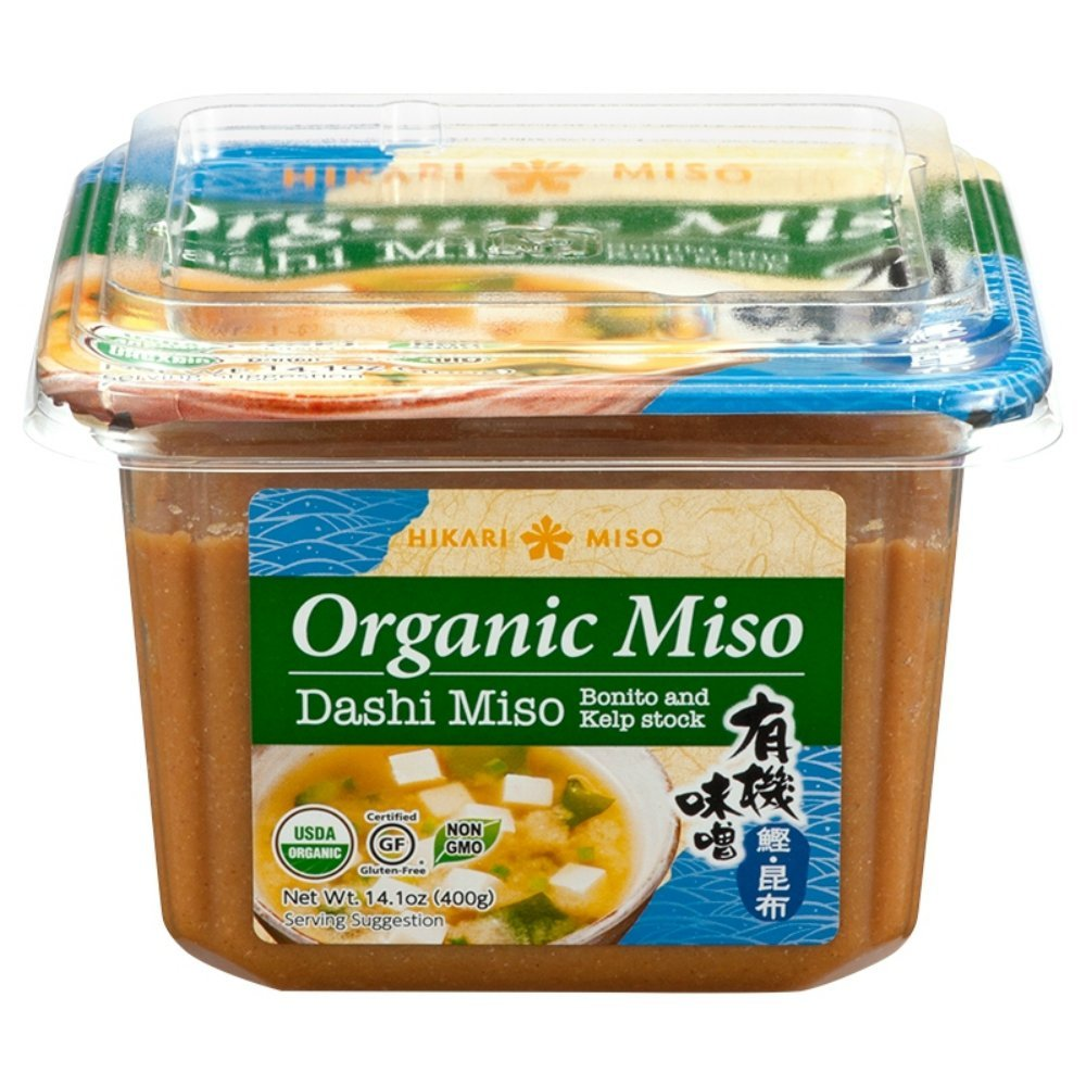 Hikari Organic Dashi Miso Paste, Bonito and Kelp Stock, 14.1 oz