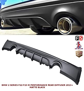TWIN EXHAUST M TECH SPORT REAR DIFFUSER VALANCE FOR BMW 2 SERIES F22 F23 13+