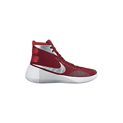 first rate 9b732 67c02 Nike Women s Hyperdunk 2015 Team Basketball Shoe Red White Metallic Silver  Size 7 M