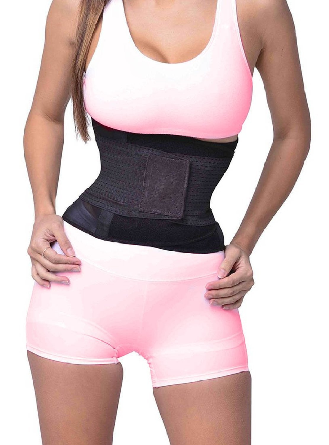SAYFUT Miss Women's Waist Trainer Girdle Belt Body Shaper Belt For An Hourglass Shaper Black Medium (US Size 0-12/Waist 24-30.5inch), US Size 2-10/Waist 23.5''-30''(Tag M), Black