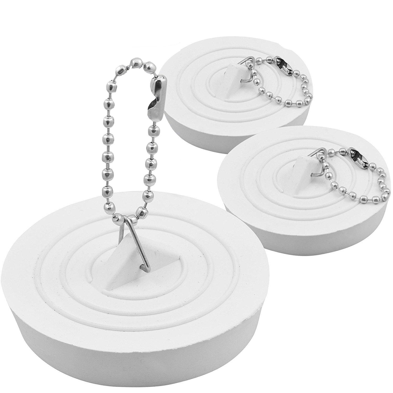 3 X SINK PLUG STOPPER RUBBER BASIN BATHTUB BATHROOM BATH KITCHEN WASTE Fusion