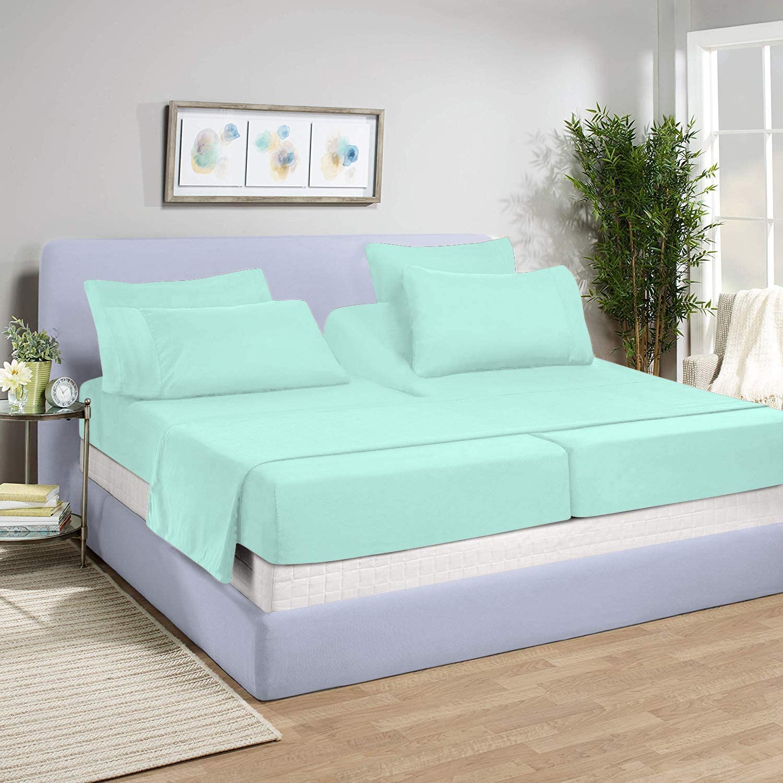 American Linen 800 Thread-Count 100/% Egyptian Cotton Flat Sheet by Sunrizer Beddings Twin XL Size Aqua Blue