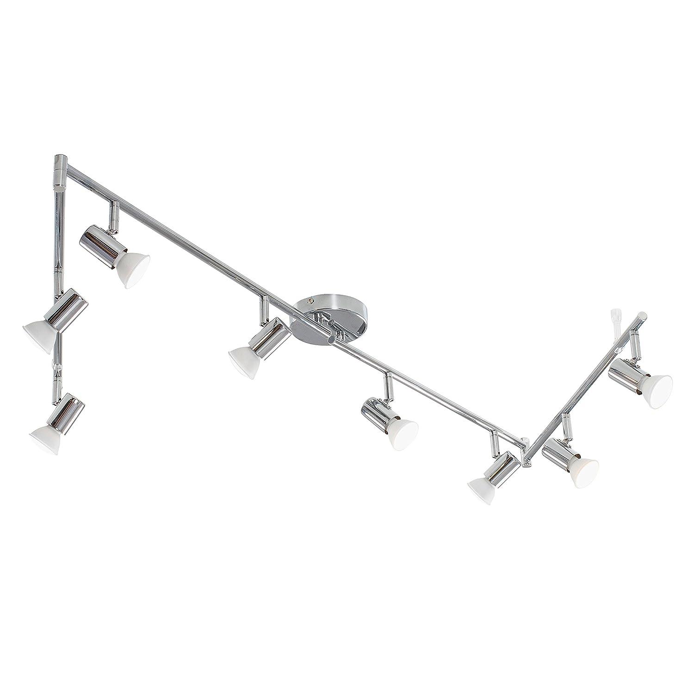 Modern Silver Chrome 8 Way Flexi Z Adjustable Ceiling Spotlight MiniSun