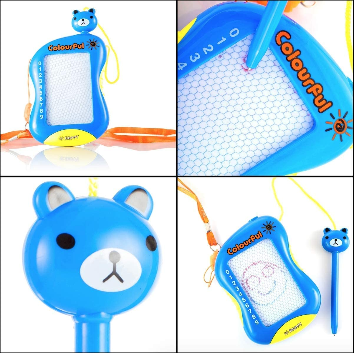 for Toddlers Kids Girls /& Boys Age 2 3 4 /& 5 Years Old Drawing /& Learning Sturdy /& Compact Erasable CHIPMUNKK Colorful Travel Size Magnetic Doodle Board Toy for Writing Reusable /& Mess Free